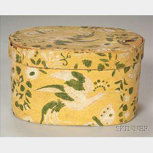 Hannah Davis Wallpaper-covered Wooden Bandbox
