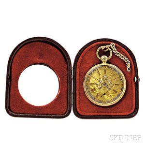 M. I. Tobias & Company Detached Patent Lever Tricolor Gold Open Face Watch