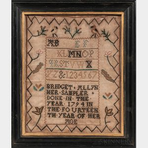 """Bridget Allyn"" Needlework Sampler"