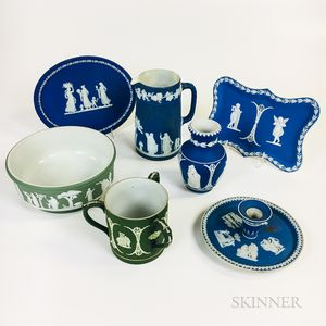 Seven Wedgwood Jasper Items