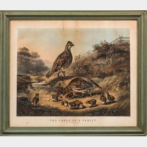 Currier & Ives (American, 19th Century), After Arthur Fitzwilliam Tait (American, 1819-1905)      Cares of a Family