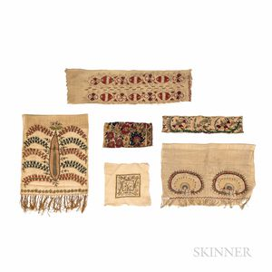 Six Turkish Embroidered Fragments