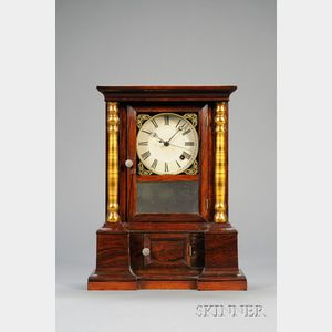 "Rosewood ""London Mantel"" Eight-Day Chronometer Shelf Clock by Atkins Clock Company"