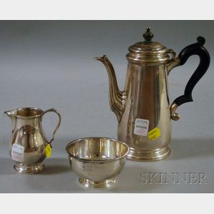 Tiffany Sterling Silver Three-piece Demitasse Coffee Service