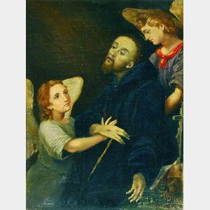 Italian School, 17th Century Style      Saint Francis in Ecstasy.