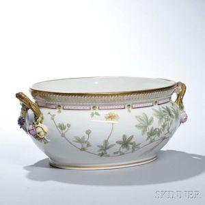 """Royal Copenhagen Porcelain """"Flora Danica"""" Oval Bowl"""