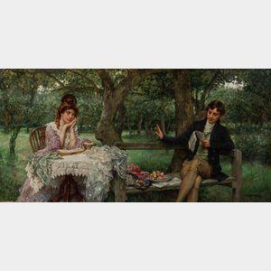 William A. Breakspeare (British, 1856-1914)      His Poem