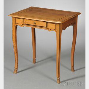 Provincial Ebony-inlaid Side Table