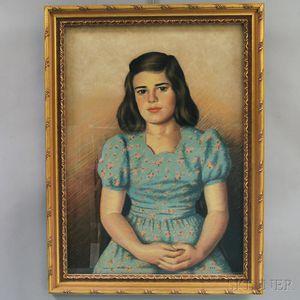 American School, 20th Century      Portrait of a Girl