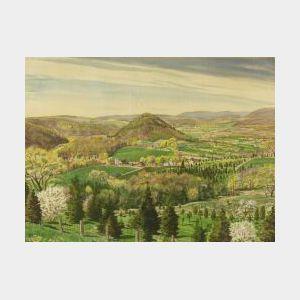 Sascha Maurer (American, 1897-1961)  The Farm Below