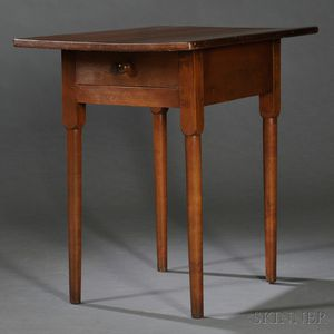 Shaker Cherry and Pine Table with Drawer