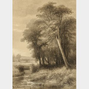 Benjamin Champney (American, 1817-1907)      In the Meadows