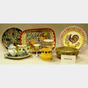 Twenty-six Pieces of Assorted Decorated Ceramic Tableware and Other Items