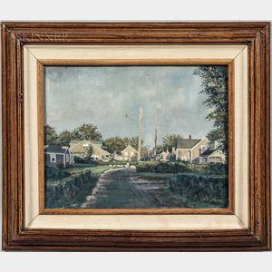 Jack Eastman Brown (American, 1922-2000)      Quiet Street