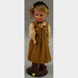 K & H German Bisque Head Doll