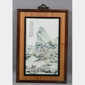 Sold for: $33,180 - Porcelain Plaque