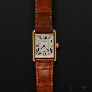 """18kt Gold """"Tank"""" Wristwatch, Cartier"""