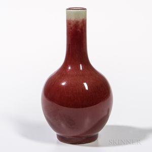 Small Flambe-glazed Bottle Vase