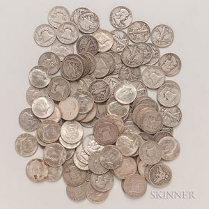 107 Silver Half Dollars