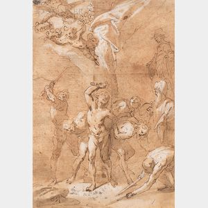 School of Luca Cambiaso (Italian, 1527-1585)      Martyrdom of Four Male Saints