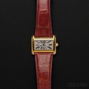 """Lady's 18kt Gold """"Tank Divan"""" Wristwatch, Cartier"""