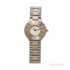 """Cartier Stainless Steel """"Le Must 21"""" Wristwatch"""