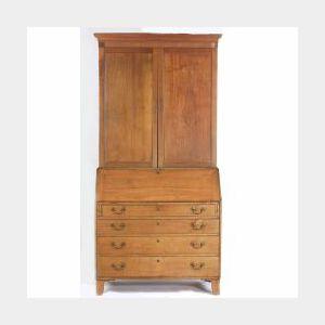 Southern Federal Walnut and Walnut Veneer Desk/Bookcase