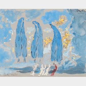 Marcel Vertès (Hungarian, 1895-1961)      Set Design for La belle Hélène