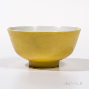 Yellow-glazed Bowl