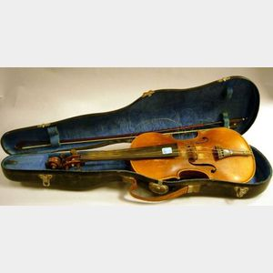 German Violin with Bow
