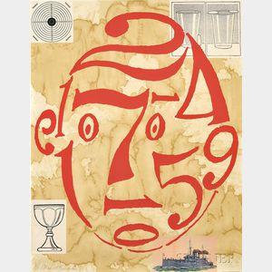 Donald Baechler (American, b. 1956)      Untitled (Arithmetic Head)