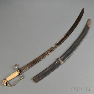 Eagle-pommel Sword with Partial Scabbard