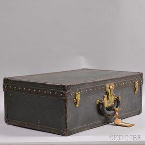 Louis Vuitton Black Leather-bound Suitcase