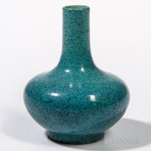 Small Robin's Egg Blue-glazed Bottle Vase
