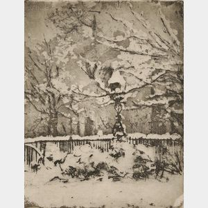 Theodore Roussel (French, 1914-1989)      Three States of The Snow, My Front Garden, March 2nd
