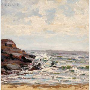 Paul E. Saling (American, 1876-1936)    Seascape