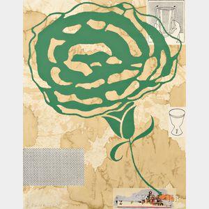 Donald Baechler (American, b. 1956)      Untitled (Green Flower)