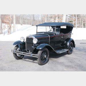1930 Ford Model A Standard Phaeton