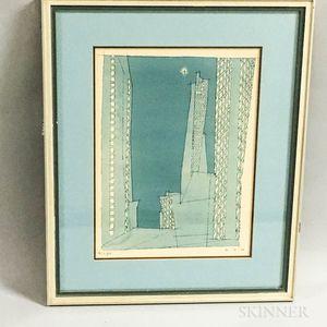 Framed Lyonel Feininger Photo-reproduction Print