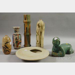Six Assorted Asian Ceramic Items