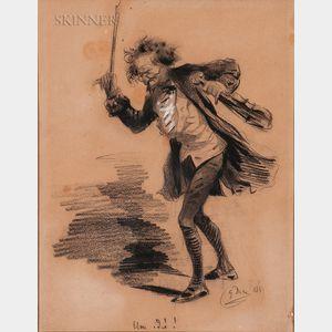 Gustave Doré (French, 1832-1883)      Illustration of a Violinist