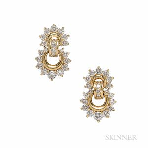 Jose Hess 18kt Gold and Diamond Earrings