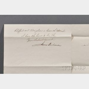 Buchanan, James (1791-1868) Autograph Letter Signed, 11 May 1846.