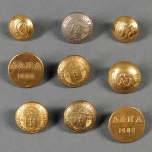 Nine Ancient & Honorable Artillery Buttons