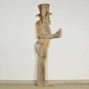 Carved Pine Uncle Sam Figure