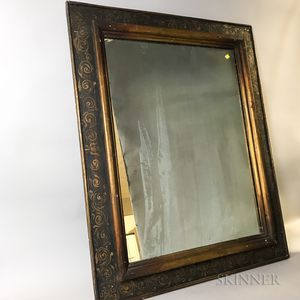 Baroque-style Painted Mirror
