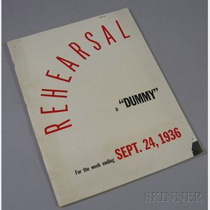 """Time Inc. September 24, 1936, No. 2 """"Rehearsal"""" Copy for Life   Magazine."""