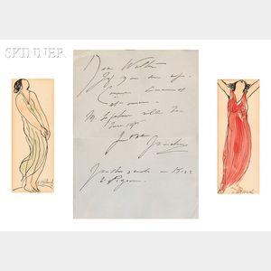 Abraham Walkowitz (American, 1878-1965)      Two Studies of Isadora Duncan