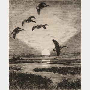 Frank Weston Benson (American, 1862-1951)      November Moon