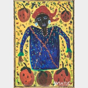 Gerard Fortune (Haitian, c. 1925-2019)      Woman with Strawberries